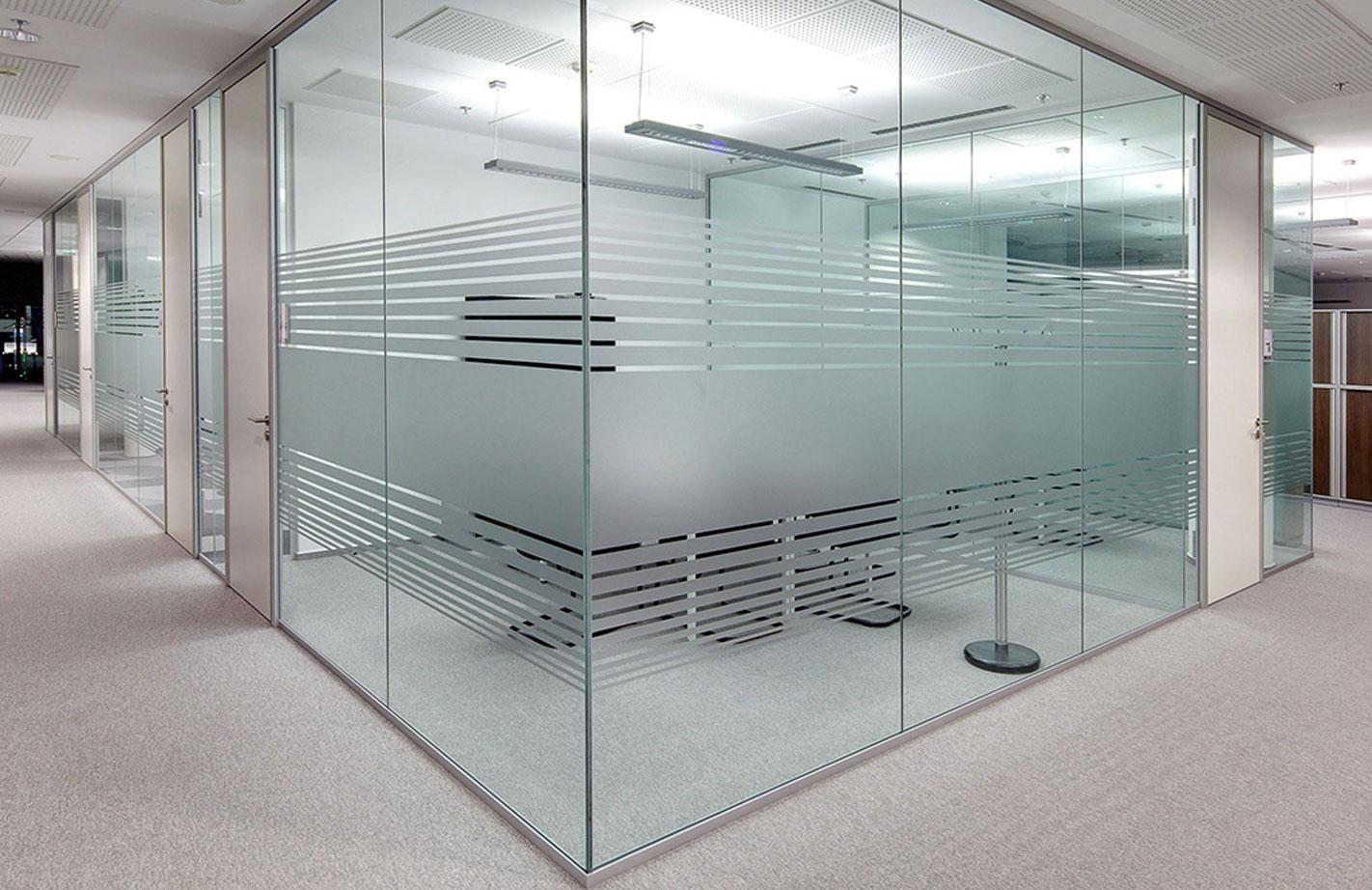 Frameless Glass Partition.
